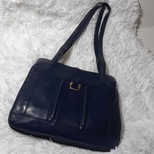 Vintage Lou Taucor Leather Shoulder Bag